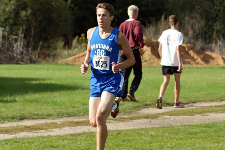 Senior Nick Raichle running for Owatonna