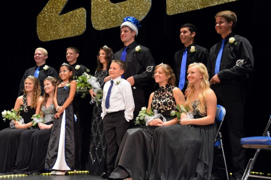 Top 5 are joined on stage by Junior Royalty