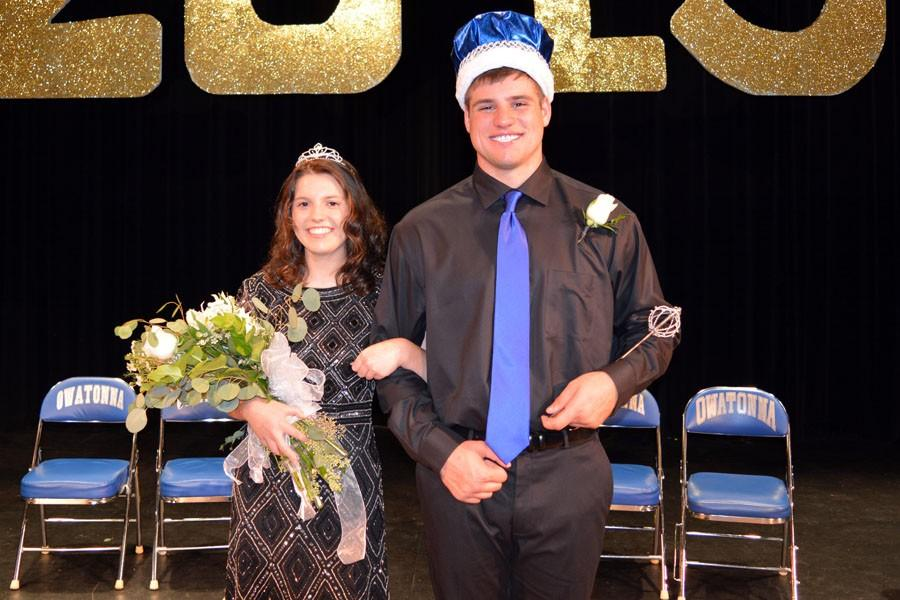 2015 Homecoming King Austin Abbas and Queen Maria Golberg