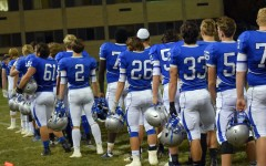 Owatonna Football Team lines up during the National Anthem