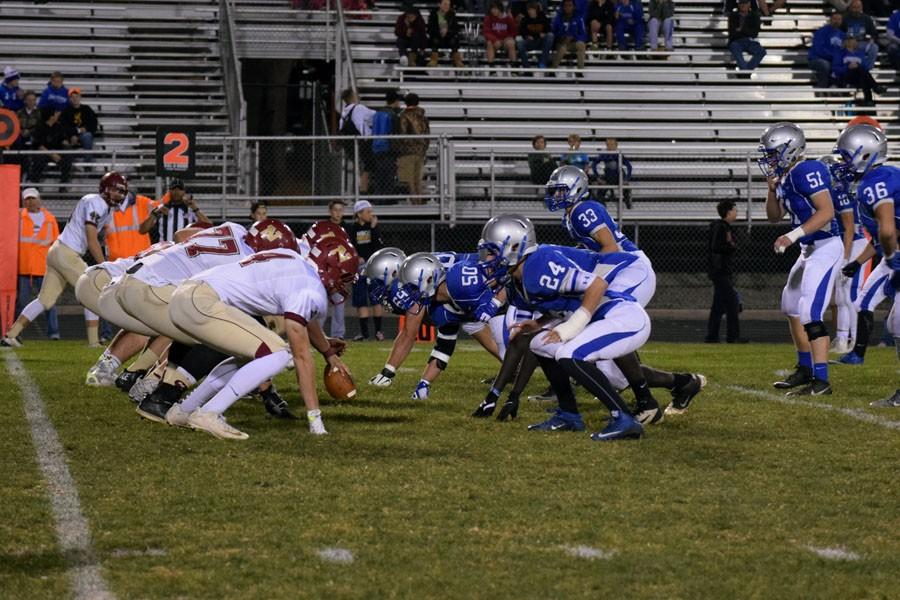 Owatonna Defense getting ready for the play