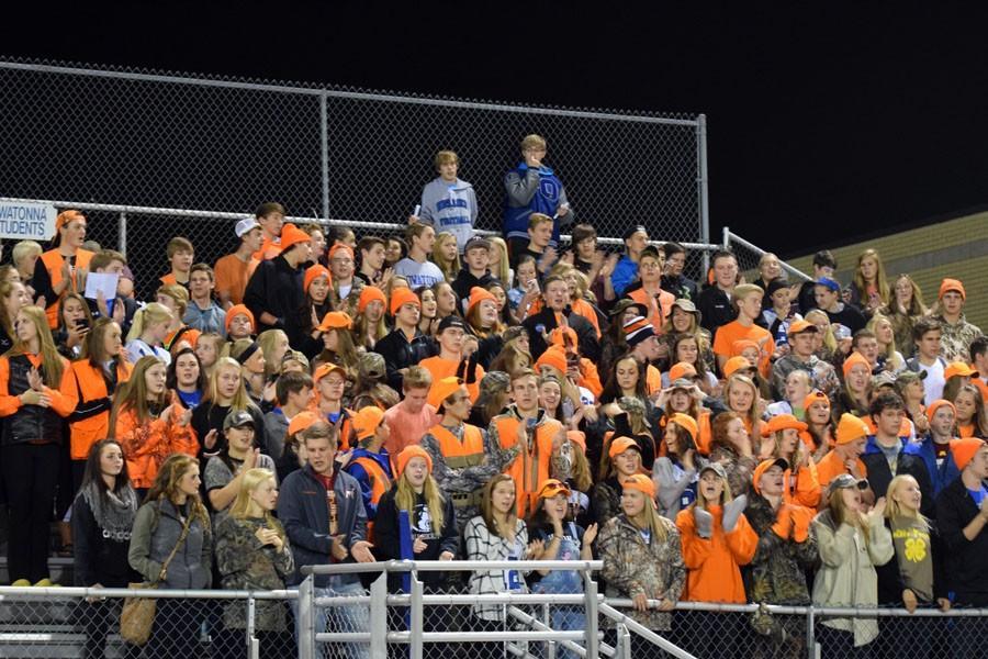 Owatonna Student Section cheering on the Huskies