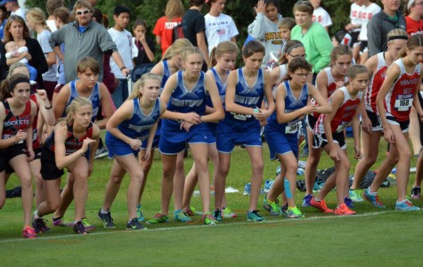 Owatonna Girls Cross Country getting ready to run