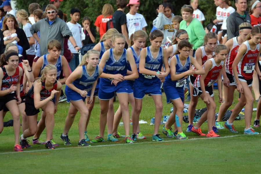 Owatonna+Girls+Cross+Country+getting+ready+to+run