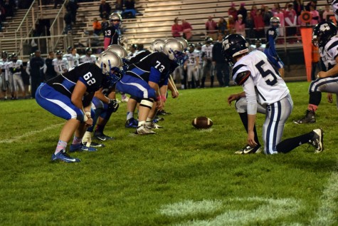 Owatonna offense getting ready for the play