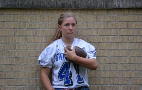 Freshman Mia Hiber is the first female quarterback to score a touchdown