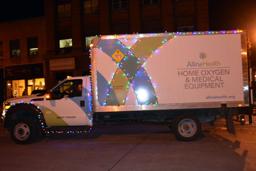 Allina Health medical equipment delivery truck