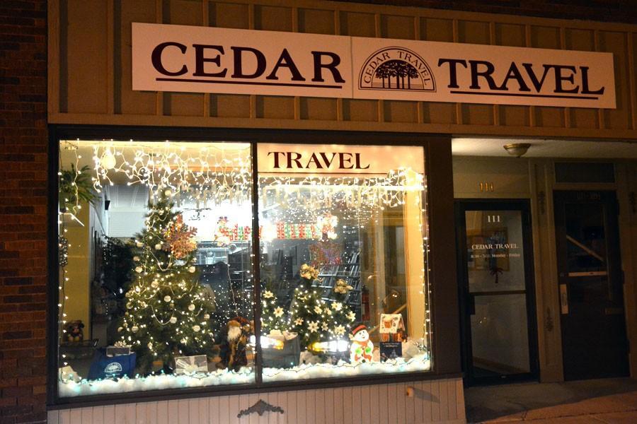 Cedar Travel with a great window display