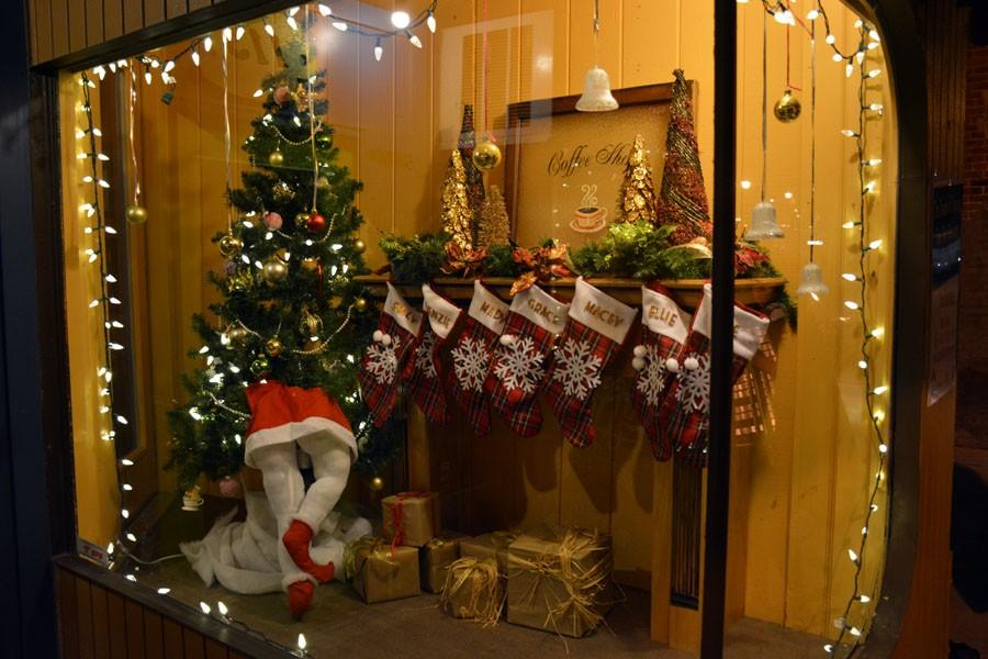 Central Park Coffee's window display
