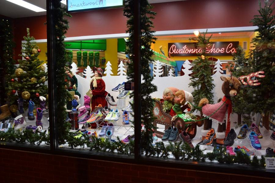 Owatonna Shoe's well put together window display