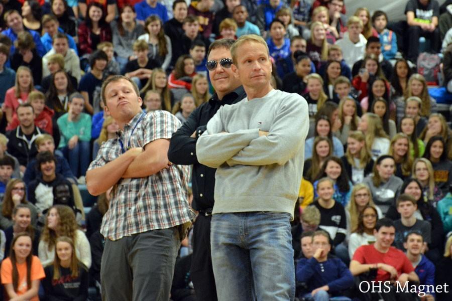 Owatonna teachers Mr. Leer, Mr. Guenther, and Mr.Muir