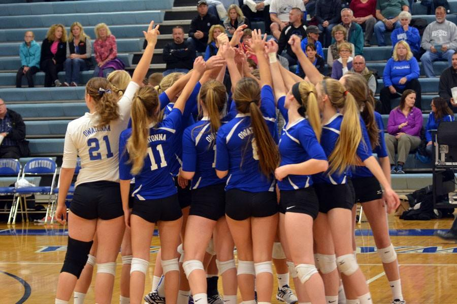 OHS Volleyball plays tonight at 7 p.m. in Rochester Mayo vs. the Spartans