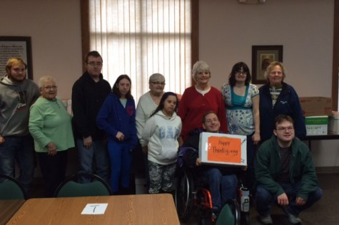 Mrs. Jeno's class collected food and items for the local food shelf
