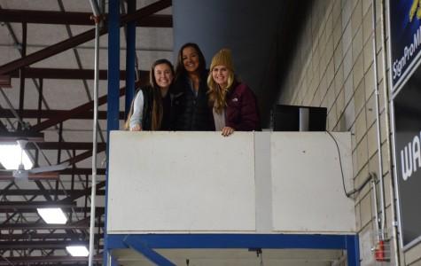 Boy's Hockey Managers (from left) Senior Cienna Raden, Juniors Kendall Travis and Danika Brown