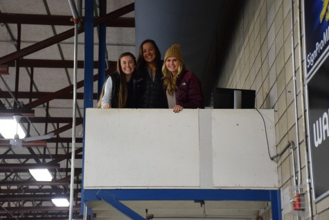 Boy's Hockey Managers (from left) Senior Cienna Raden, Juniors Kendall Travis and Danika Brown