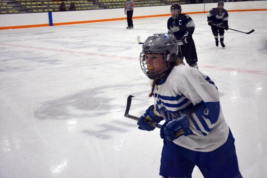 Junior Shannon VanReeth rushing to help