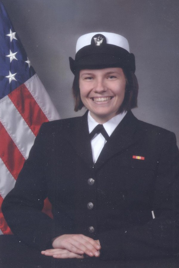 Naval officer Megan Scheid is currently stationed in Japan