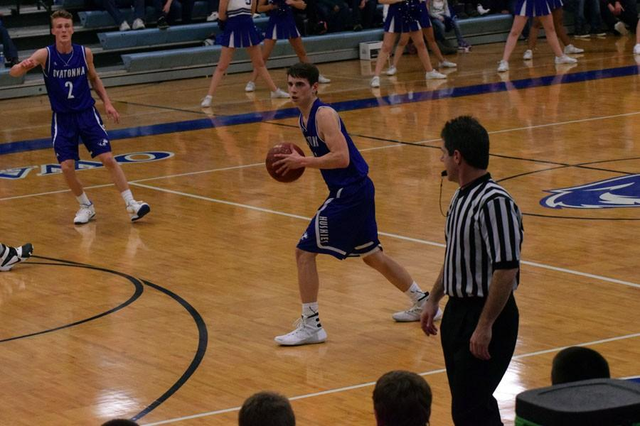 Senior Jacob Borchert passing the ball