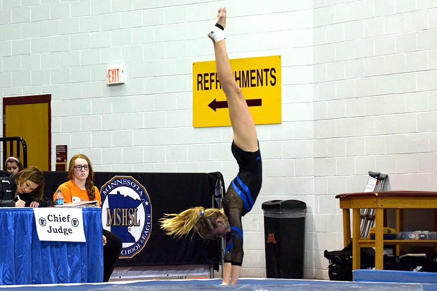 Sydney Kretlow performs her floor routine