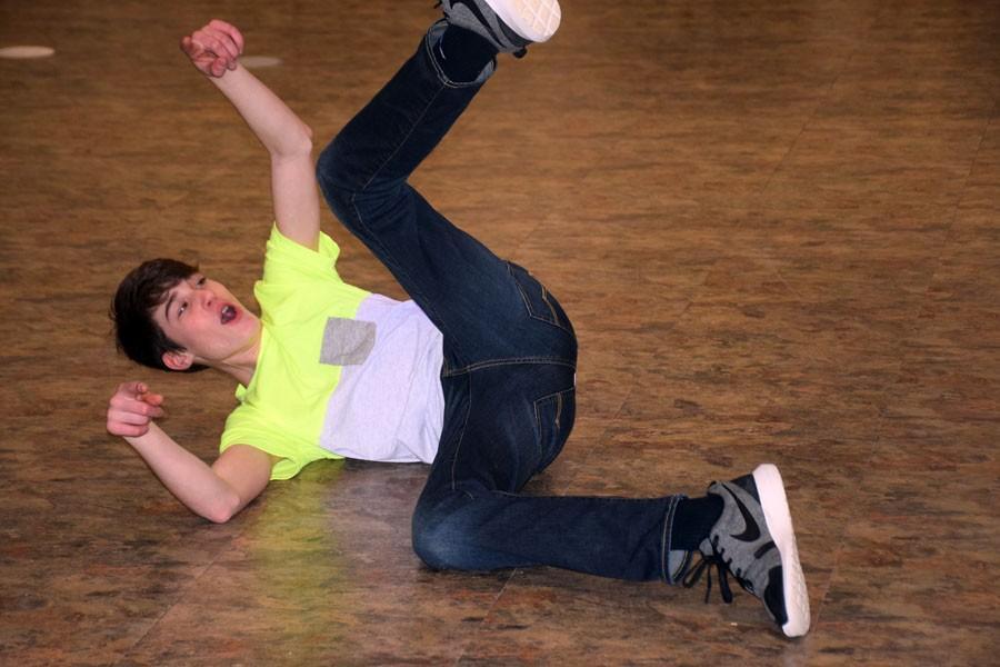 Freshman Spencer Intress breaking it down on the dance floor
