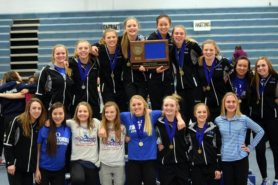 Owatonna%27s+gymnastics+team+wins+section+1AA+title+to+qualify+for+the+Minnesota+state+tournament