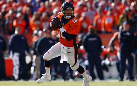 Peyton Manning gets ready to throw the ball downfield. Source: CBS