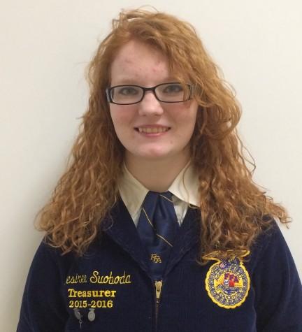 Junior Desiree Svoboda, state degree winner