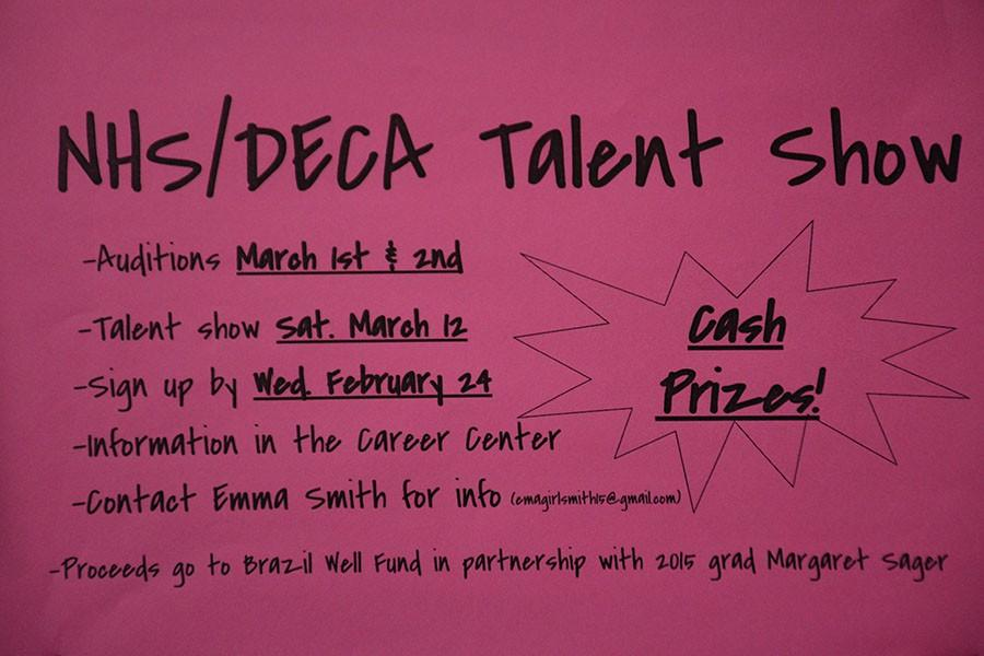 NHS/DECA Talent Show Flyer