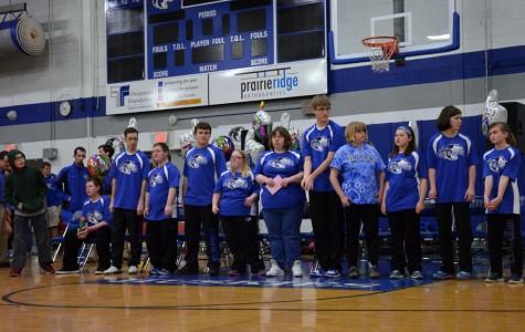 Owatonna High School Adaptive Floor Hockey team