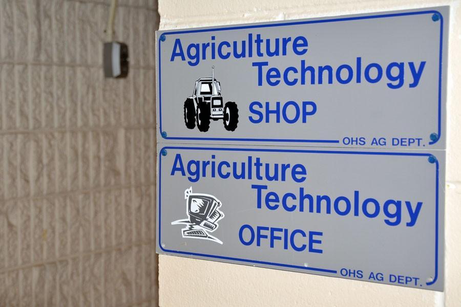 Agriculture building's shop sign