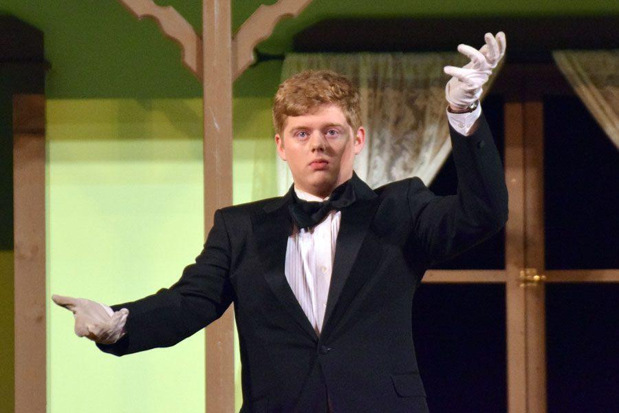 Jake (Ethan Pick) playing Reginald the butler