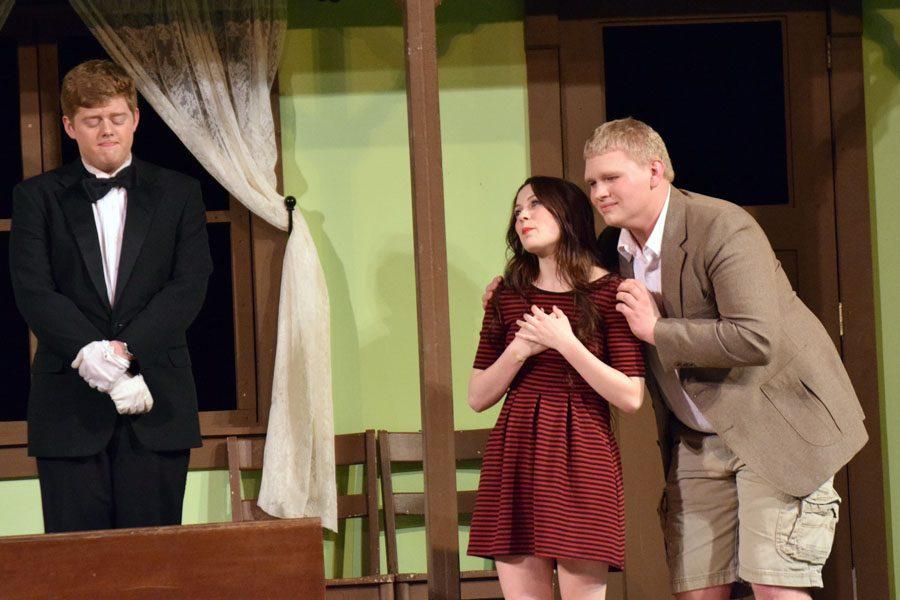 Kaylie (Jaylin Evert) expressing her love for Arnold (Lucus Arndt)