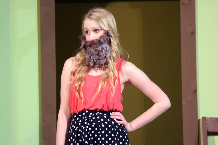 Masha (Kjerstin Anderson) questioning why she has to play a man