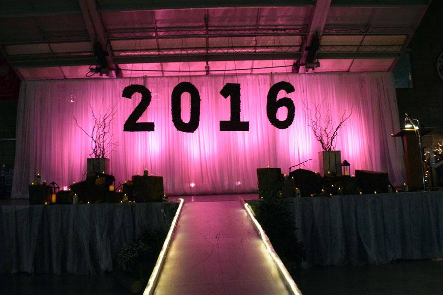 Last year's prom stage at the four seasons center