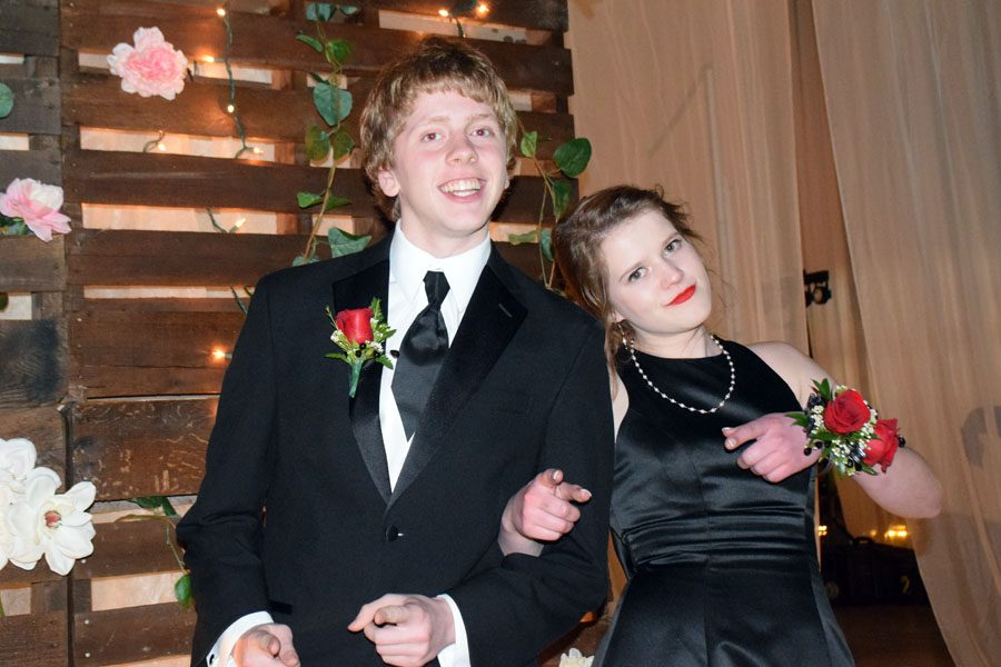 Juniors Konner Kubista and Ellie Boison during grand march