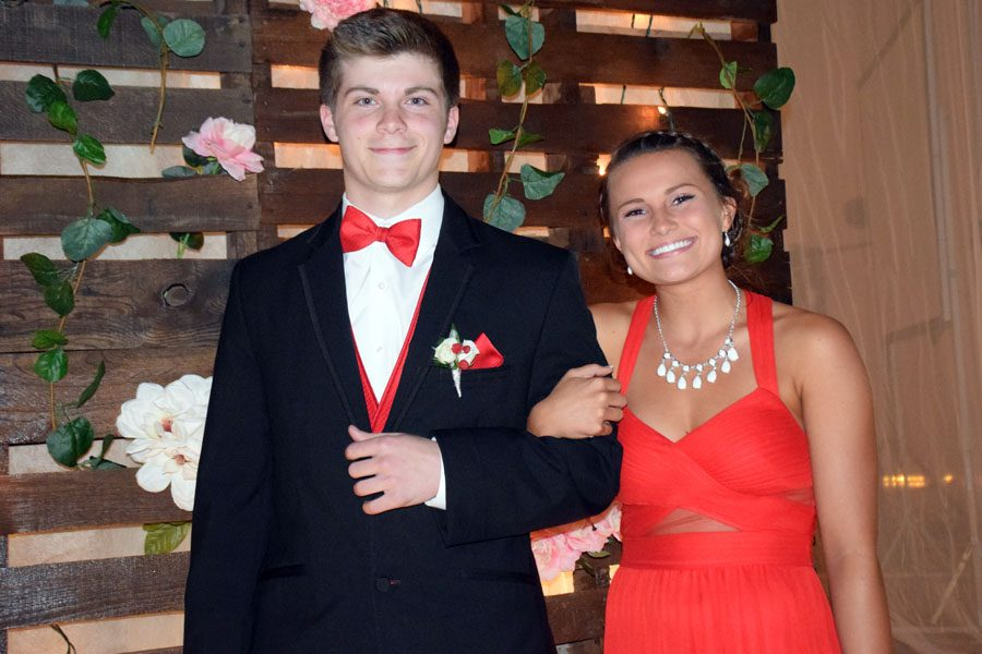 Juniors Vince Spurgeon and Toria Koch during grand march