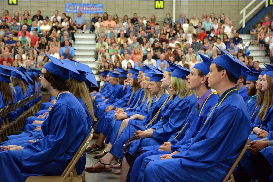 OHS class of 2016 listening to the speakers