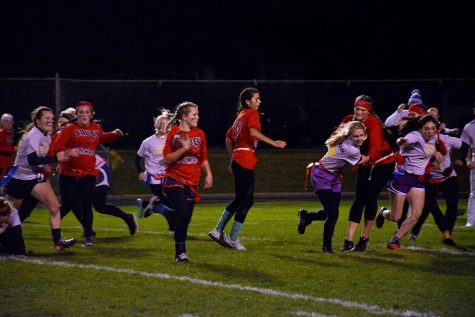 Sophomore Cassie Bremer running. She was the Saucy Sophomore MVP
