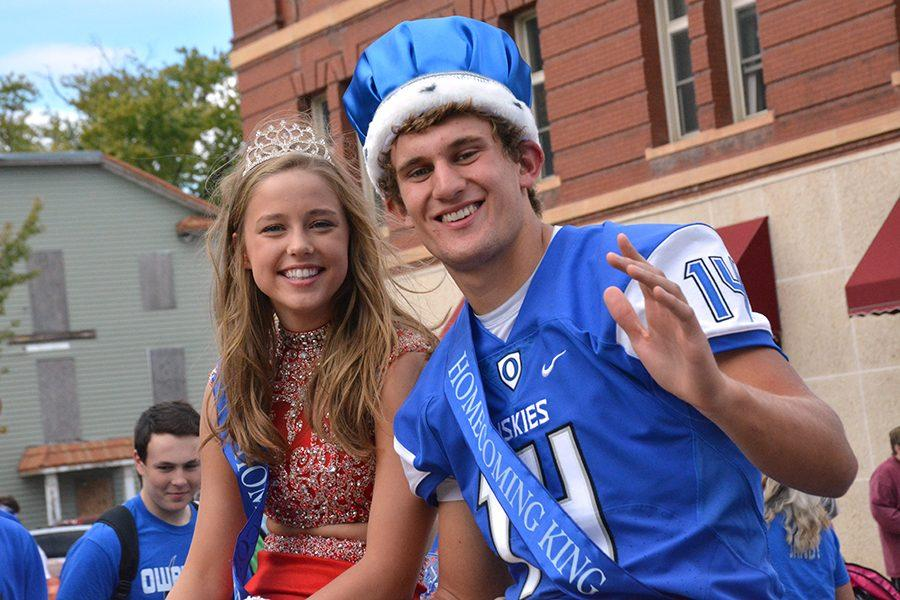 King Ethan DeKam and Queen Katie Belina  are the spotlight of the parade