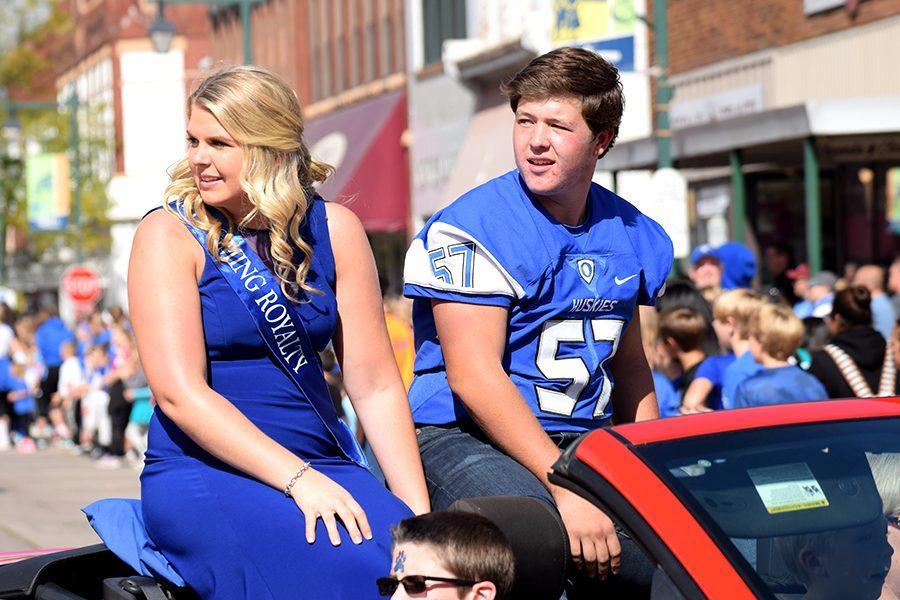 Semi-Finalist Danika Brown and Josh Burns stare into the crowd