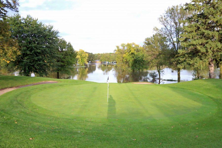 Flooding at the Owatonna Country Club Golf Course