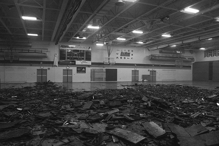 Water damage to the OHS gymnasium