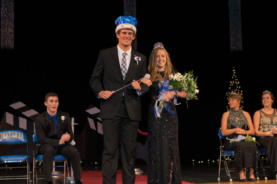 2016 OHS Homecoming King Ethan DeKam and Queen Katie Belina