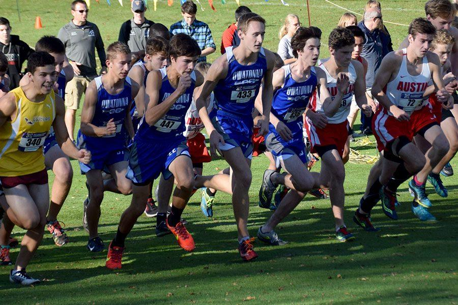 Owatonna's boys cross country team taking off