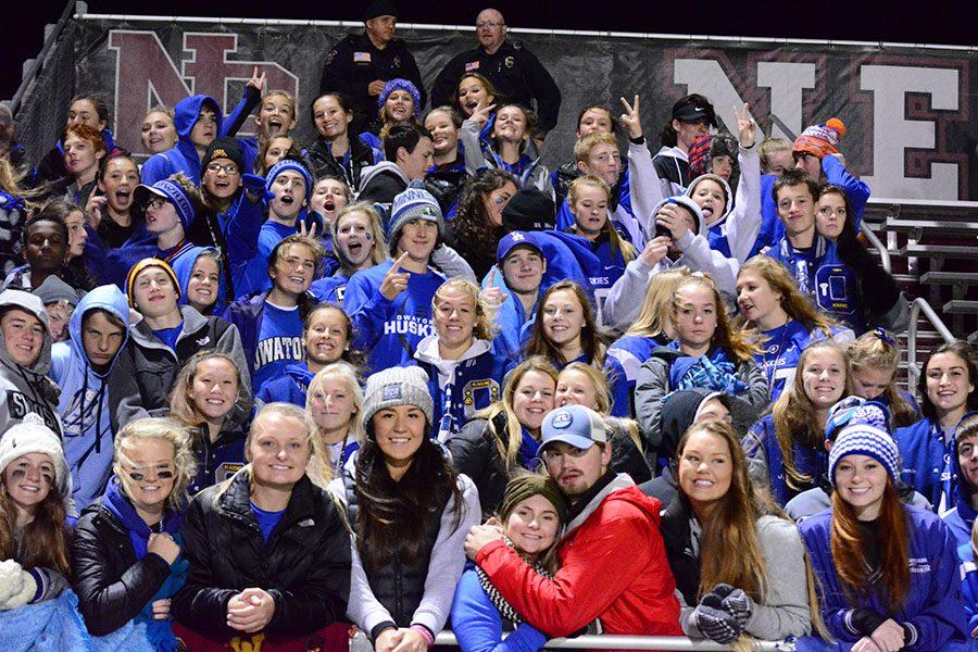 Student section at New Prague