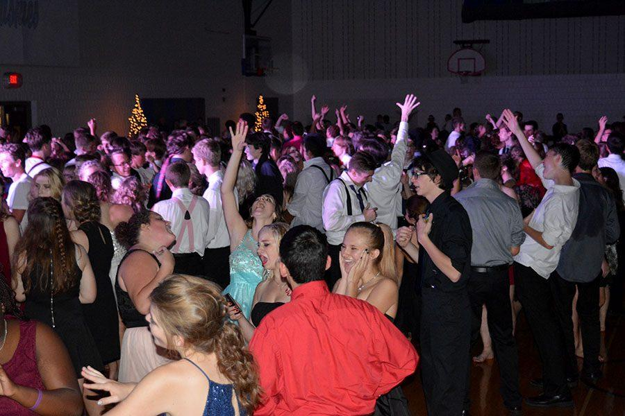 OHS students dancing the night away at homecoming.