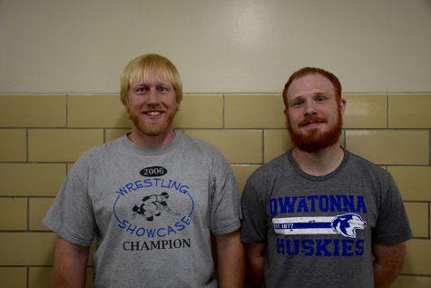 Wrestling co-head coaches Scott Seykora and Adam Woitalla