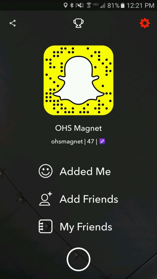 Snapchat username for Magnet that anyone can add.