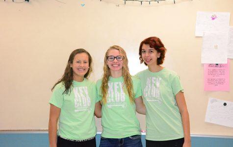 Key Club Officers: Rilee Schmidt, Ellie Rohman, Gwen Larson-McCluskey