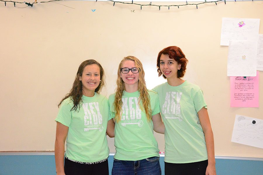 Key Club Officers: Rilee Schmidt, Ellie Rohman, Gwen Larson-McCluskey